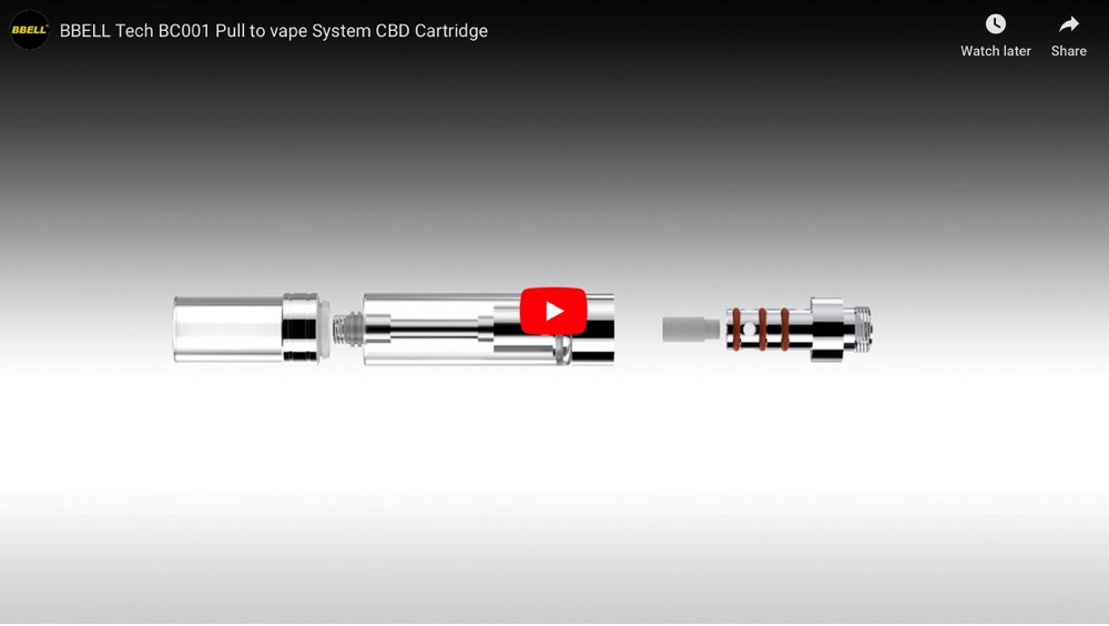 BC001 Pull to vape CBD Cartridge Details